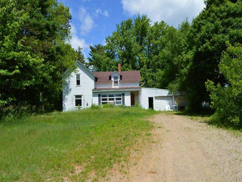 Farmette W/ Acreage : Spingville : Adams County : Wisconsin