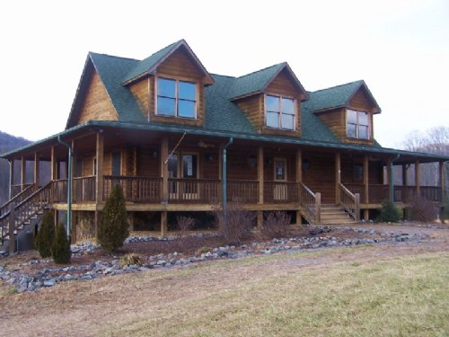 Log Home Located : Cana : Carroll County : Virginia