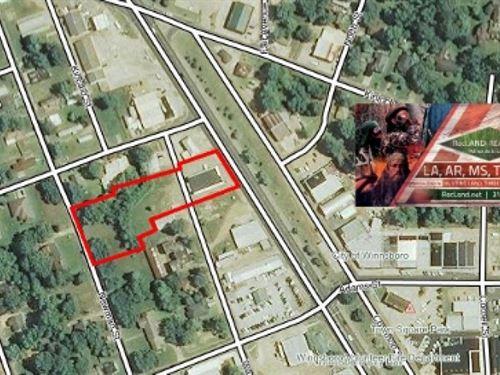 Lots - Commercial Lots With Buildin : Winnsboro : Franklin Parish : Louisiana