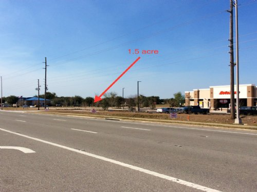 1.5 Acre Pad Ready Commercial Land : Eustis : Lake County : Florida