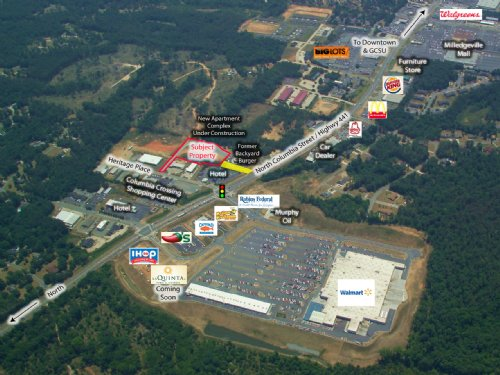 2.89 Acre Pad Ready Site : Milledgeville : Baldwin County : Georgia