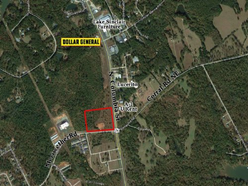10 Acre Corner Lot : Milledgeville : Baldwin County : Georgia