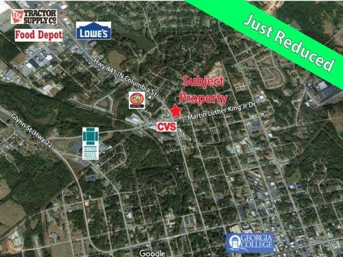 Corner Lot For Sale : Milledgeville : Baldwin County : Georgia