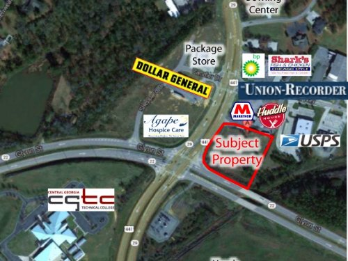 2 Acre Corner Lot : Milledgeville : Baldwin County : Georgia