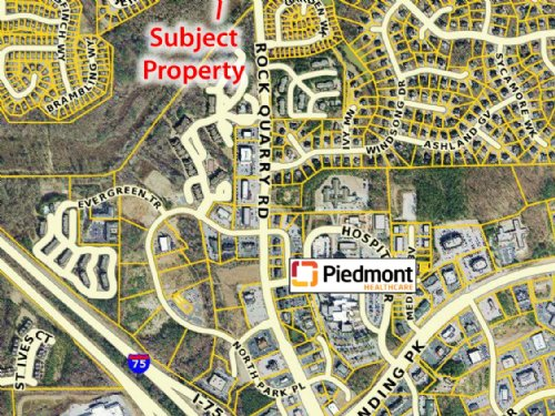 3.46 Acres On Rock Quarry Rd : Stockbridge : Henry County : Georgia