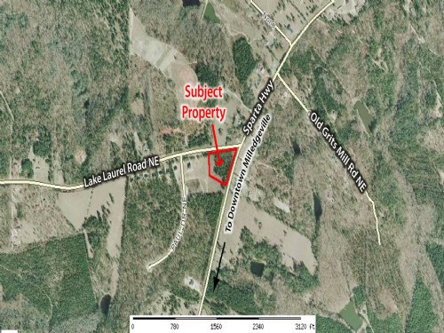 3.32 Corner Commercial Lot : Milledgeville : Baldwin County : Georgia