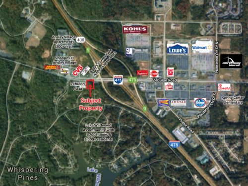 1 Acre On Zebulon Rd : Macon : Bibb County : Georgia