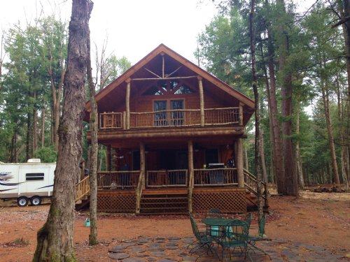 Log Cabin On The Independence River : Greig : Lewis County : New York