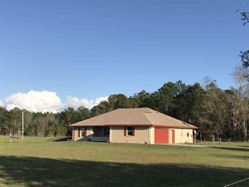 Reduced - Home On 20 Acres 771620 : Chiefland : Levy County : Florida