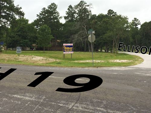2.13 Acres Commercial Corner : Huntsville : Walker County : Texas