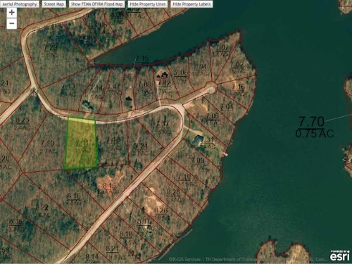Lot 107 Is A 1.9 Acre Water View : Cedar Grove : Carroll County : Tennessee