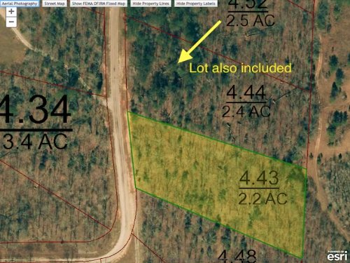 Lots 213 & 214 Is A 4.6 Acre Lot : Cedar Grove : Carroll County : Tennessee