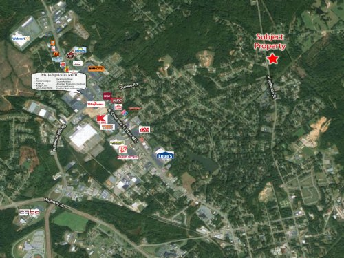 11.02 Acre Planned Development Site : Milledgeville : Baldwin County : Georgia