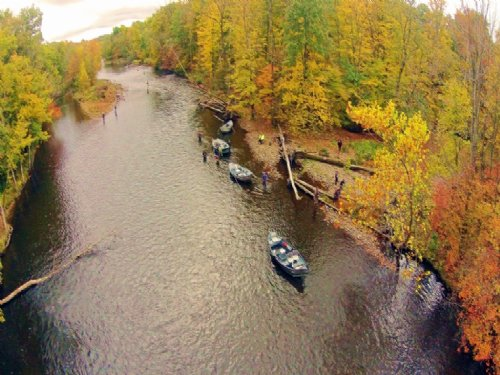 3 Ac 300' Salmon Riverbank $99,900 : Altmar : Oswego County : New York