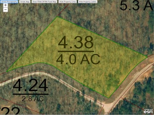 Lot 220 Is A 4.0 Acre Lot : Cedar Grove : Carroll County : Tennessee