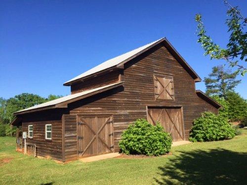 House, Barn, Pasture On The Ohoopee : Tennille : Washington County : Georgia