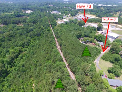 9.5+/- Acres W/ Rail : Pell City : Saint Clair County : Alabama