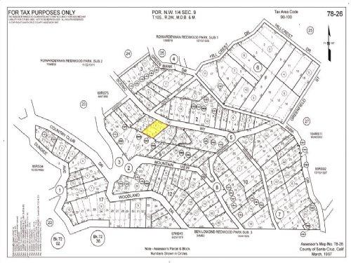 Structure On Residential Land : Ben Lomond : Santa Cruz County : California