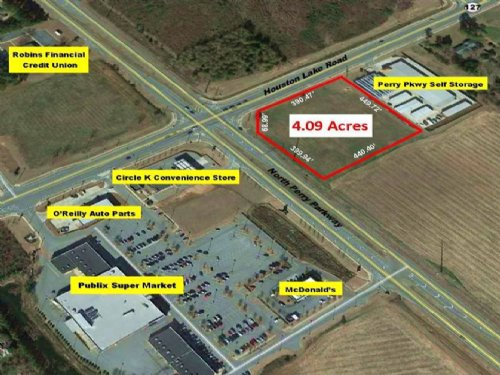4.09 Acres Of Great Commercial Lot : Perry : Houston County : Georgia