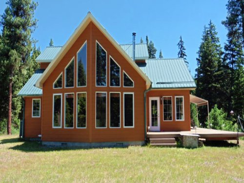 15 Acre Riverfront Home : Libby : Lincoln County : Montana