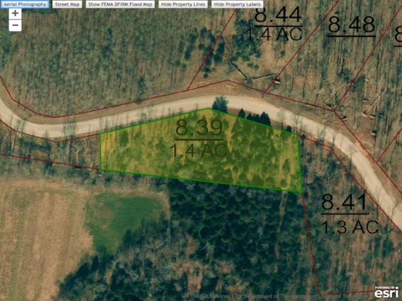 Lot 231 Is A 1.4 Acre Water View : Cedar Grove : Carroll County : Tennessee