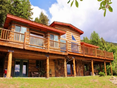 Eagles Nest View Log Home Western M : Thompson Falls : Sanders County : Montana