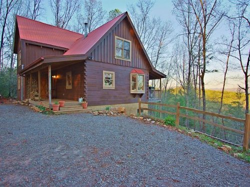 True Log Home With Blue Mtn Views : Blue Ridge : Fannin County : Georgia