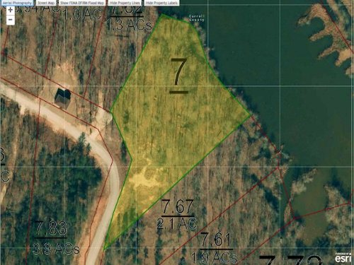 Lot 255 - 1.3 Acre Waterfront Lot : Cedar Grove : Carroll County : Tennessee