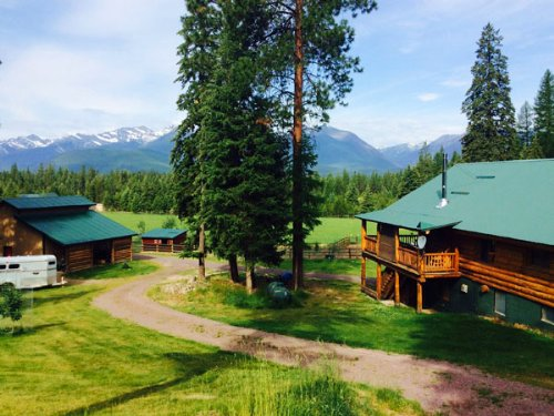 Log Home, Horses, 8.48 Acres : Libby : Lincoln County : Montana