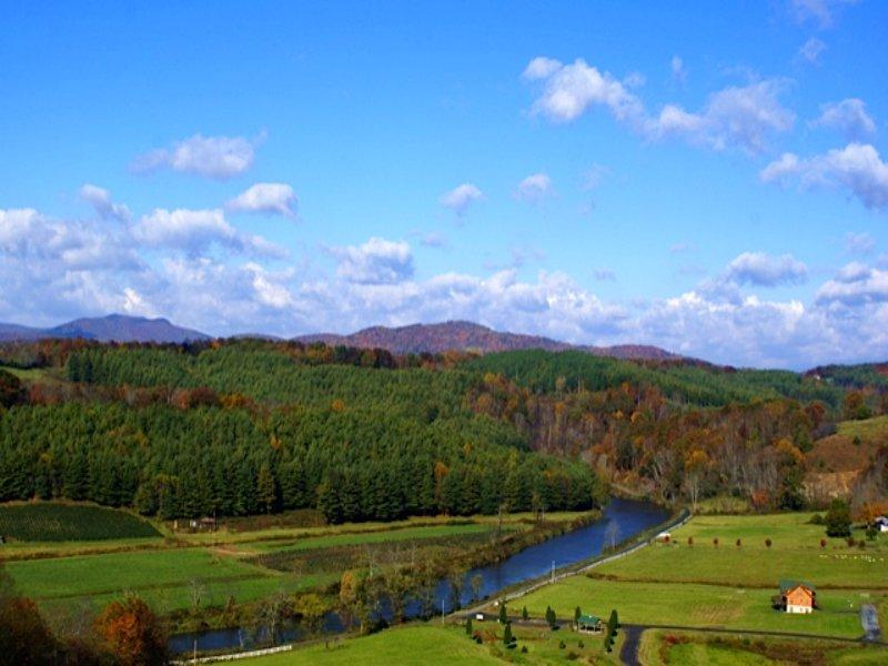 Long Range Mountain And River Views : West Jefferson : Ashe County : North Carolina