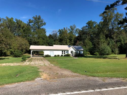 Home And 5.29 Acres : Tylertown : Walthall County : Mississippi
