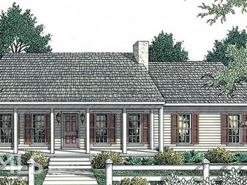 Split Bedroom Plan, 1 Story Ranch : Oxford : Walton County : Georgia