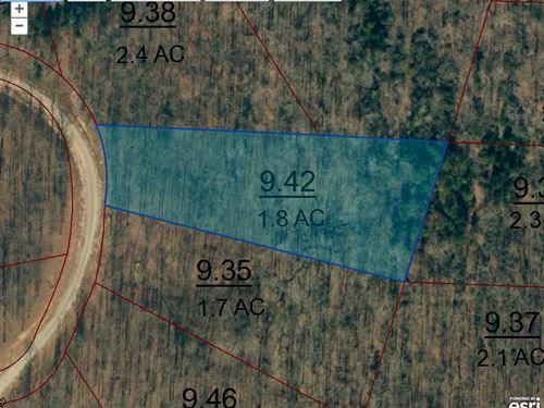 Lot 112 Is 1.8 Acres : Cedar Grove : Carroll County : Tennessee