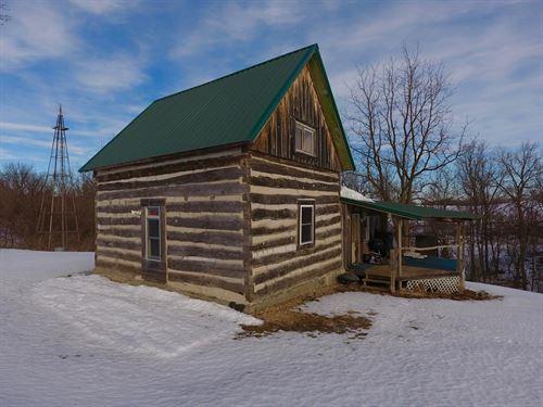 Rustic Cabin Getaway In Sw Wi : Eastman : Crawford County : Wisconsin