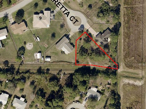 12 Lots Together For Sale : Palm Bay : Brevard County : Florida