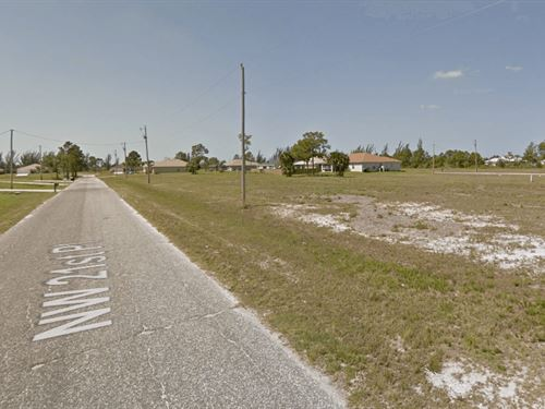 Owner Finance Residential Lot : Cape Coral : Lee County : Florida
