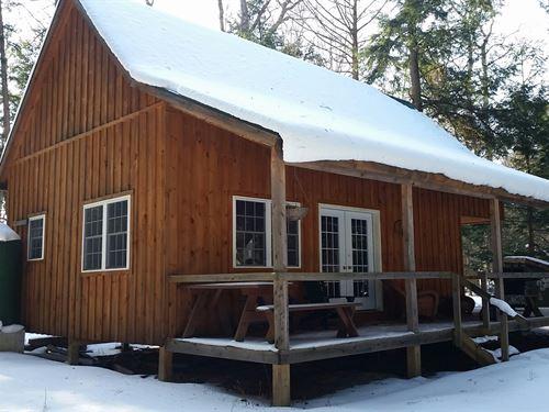 Cabin On Carterville Pond : Amboy : Oswego County : New York