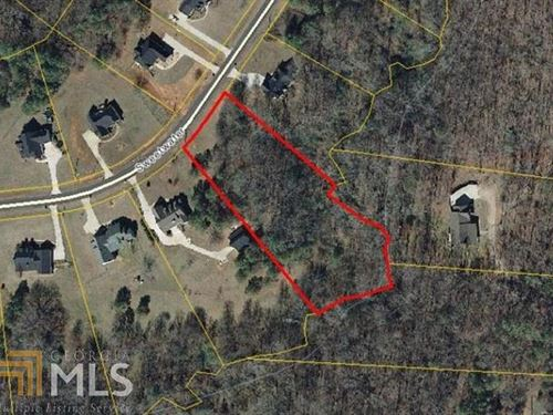 Nice Wooded 2 Acre Lot With Stream : Social Circle : Newton County : Georgia