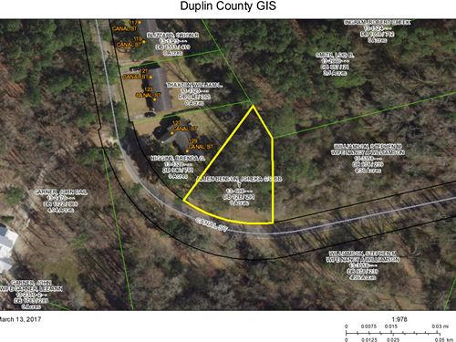 Lot On Canal Street Kenansville : Kenansville : Duplin County : North Carolina