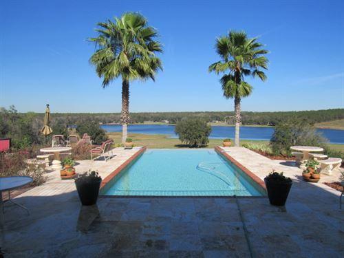 Dowling Lakefront Home & Garage : Dade City : Pasco County : Florida