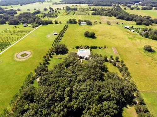 19 Acres - 5118 Sf Block Home : Dade City : Pasco County : Florida