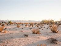 Amazing Location With Water & Power : Twentynine Palms : San Bernardino County : California