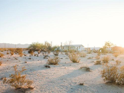 Amazing Desert Sunsets With Power : Twentynine Palms : San Bernardino County : California