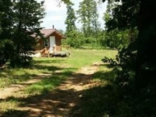 Cabin On 3.8 Acres With Elec & Pond : Pomona : Howell County : Missouri