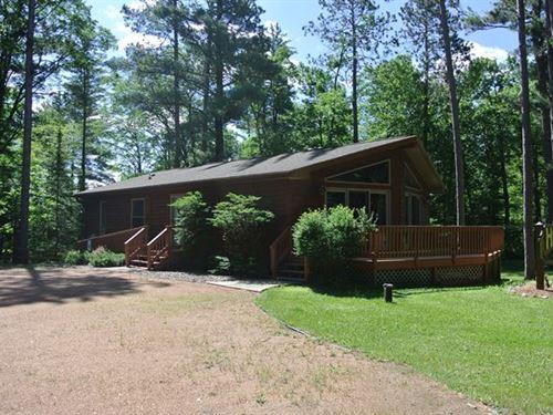 Cedar Sided Ranch On 6.5 Acres : Hazelhurst : Oneida County : Wisconsin