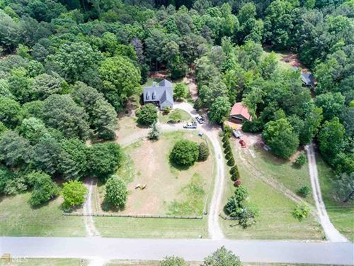 3.4 Acres With Home And Riding Ring : Monroe : Walton County : Georgia