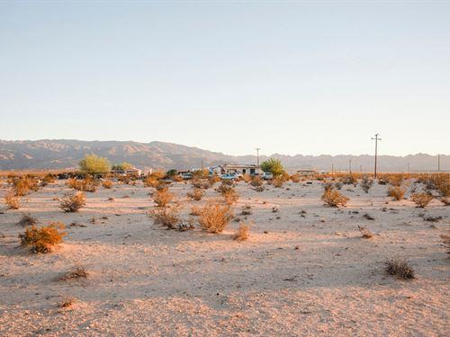 5 Acres Desert Land : Twentynine Palms : San Bernardino County : California