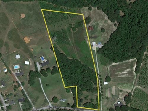 9 Unrestricted Acres In The Highly : Piedmont : Anderson County : South Carolina