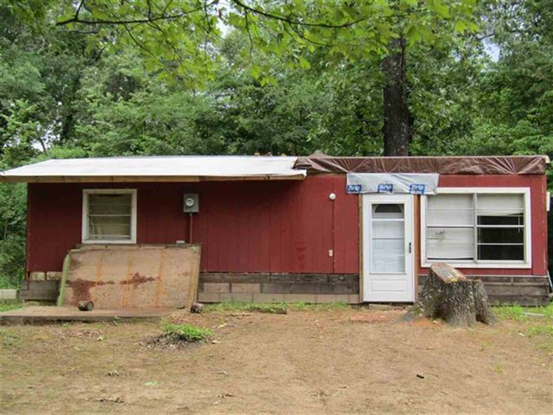 Primitive cabin on acres lot for sale powderly for Primitive cabins for sale