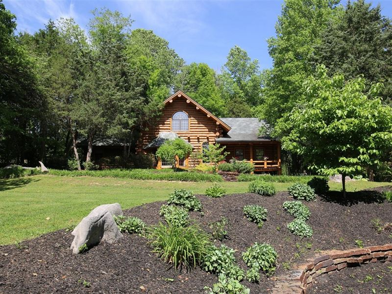Beautiful Custom Round Log Home Lot For Sale